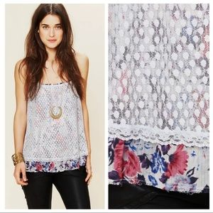 Intimately Free People Layered Point D'esprit Cami